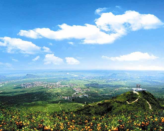 汉中城固桃花岛景区