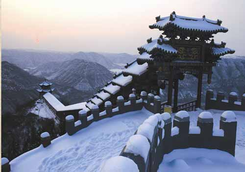 """这就是历代咏叹的晋城名胜""""珏山吐月"""",又谓之""""双珏山旅游风景区(5张)"""